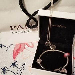 Pandora necklace and bracelet set